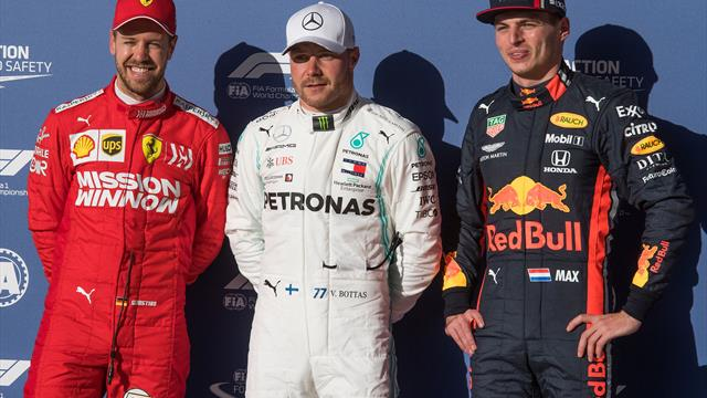 Bottas on pole, Hamilton starts fifth as he bids for title