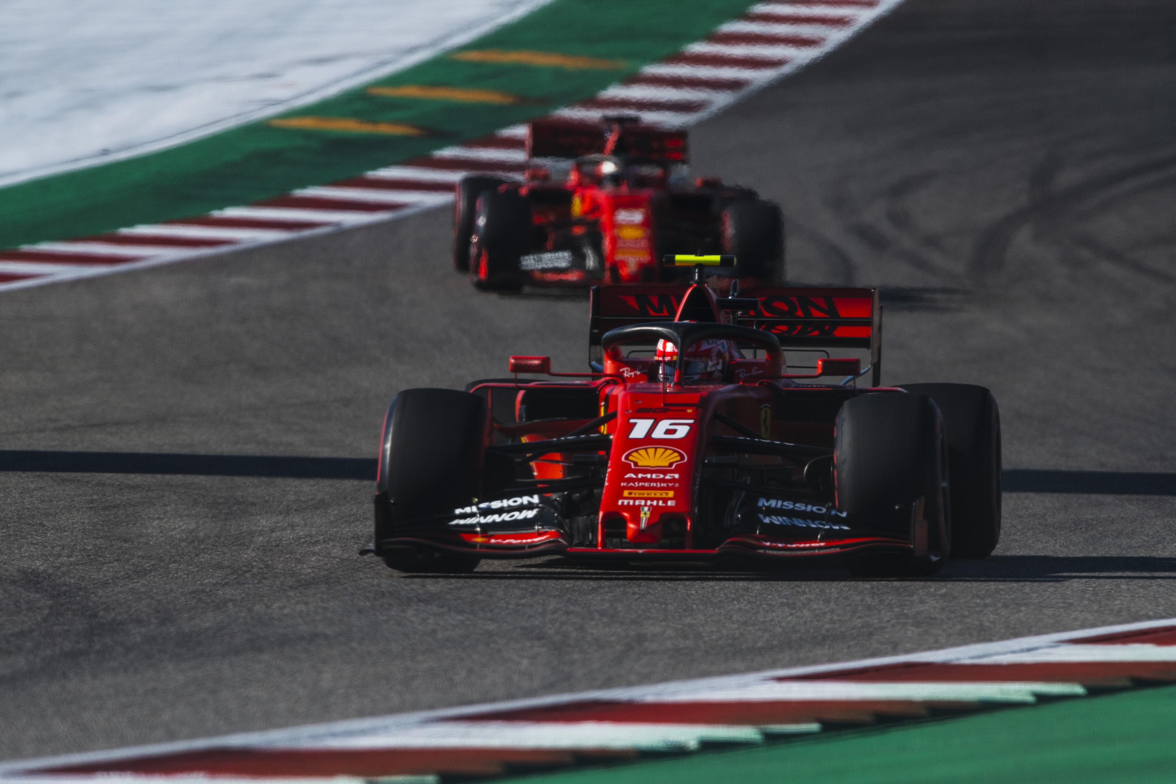Charles Leclerc et Sebastian Vettel (Ferrari) au Grand Prix des Etats-Unis d'Amérique 2019