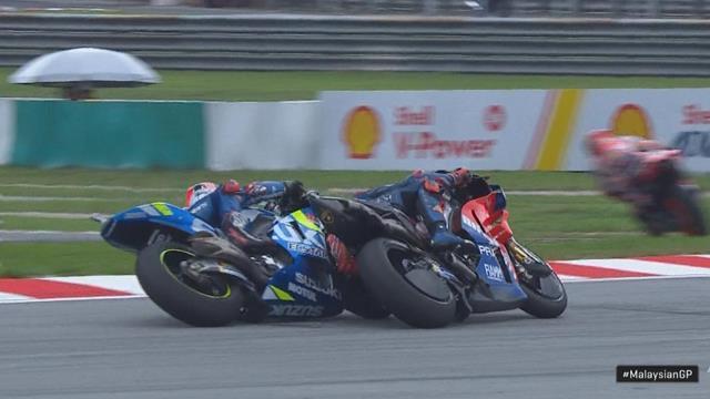 MotoGP   Weer een moment tussen Rins en Miller