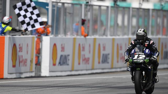 Vinales wins in Malaysia ahead of charging Marquez