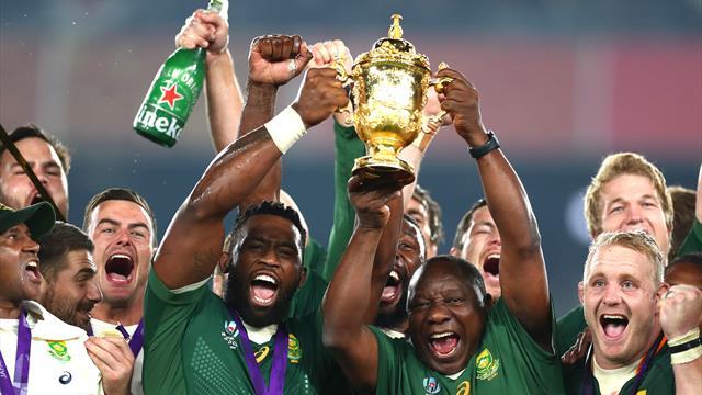 Espectacular recibimiento en Sudáfrica a los campeones del mundo de rugby