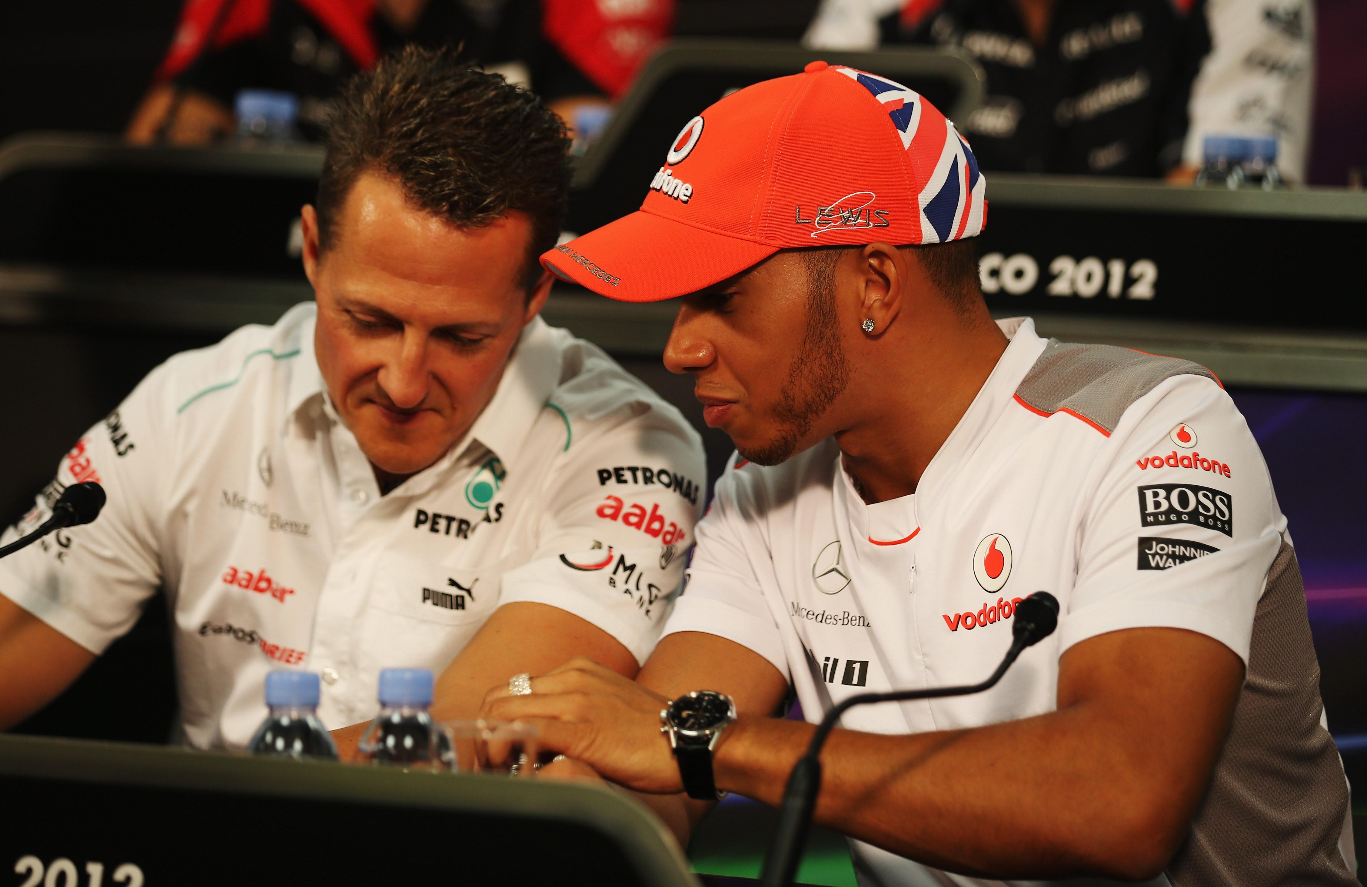 Michael Schumacher (Mercedes), Lewis Hamilton (McLaren) -  2012 Monako GP
