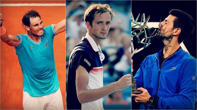 2019 Masters'ların büyük üçlüsü: Nadal, Djokovic, Medvedev