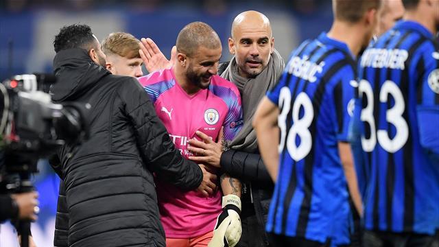 Keeper chaos sees Walker don gloves as City draw at Atalanta