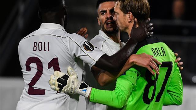 Arlauskis a comentat faptul că a fost inclus în echipa etapei din 16-imile Europa League