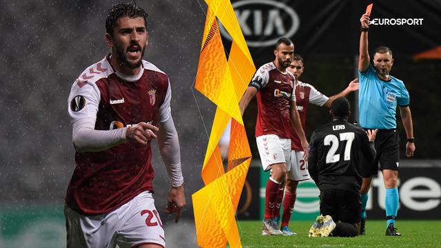 Highlights: Pivskarpe Braga smadrede Besiktas' drømme om avancement efter tvivlsomt rødt kort