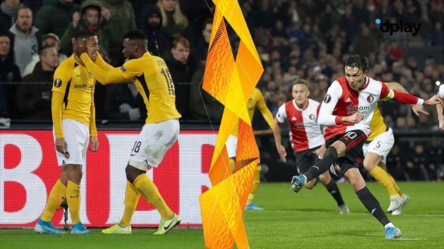 Highlights: Young Boys kæmper sig til remis i kampen mod Nicolai Jørgensen og Feyenoord