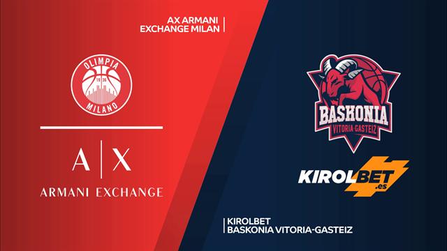 Highlights: AX Armani Exchange Milano-Kirolbet Baskonia 81-74