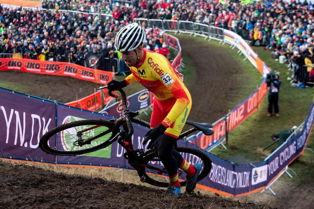 Felipe Orts, en el Mundial de ciclocross