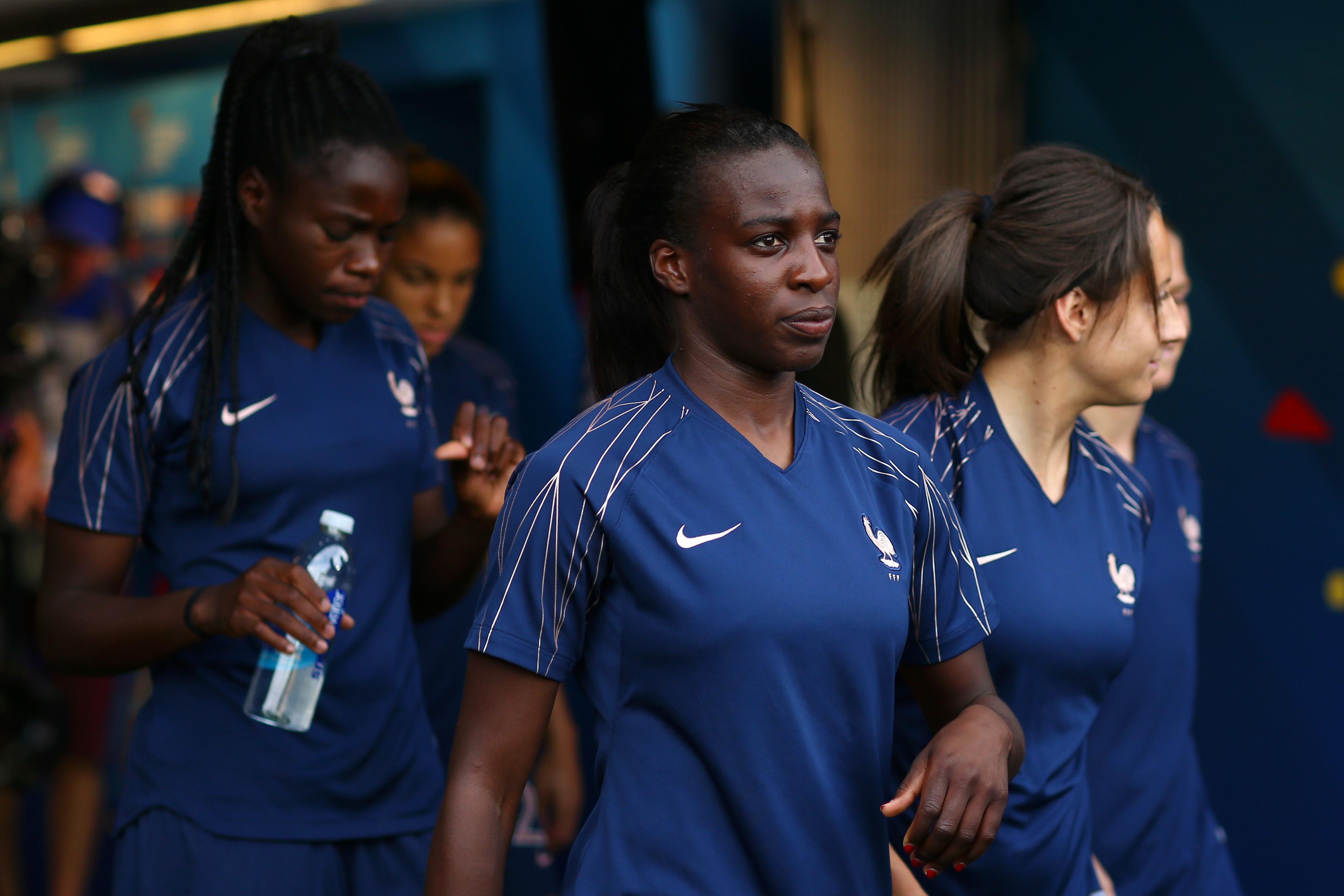 Viviane Asseyi lors de France - Etats-Unis ai Mondial 2019