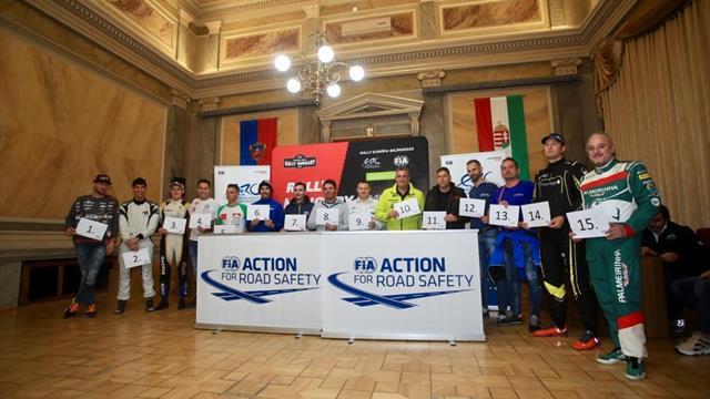 Ingram choisit de partir deuxième, Lukyanuk premier pour le Rally Hungary en ERC