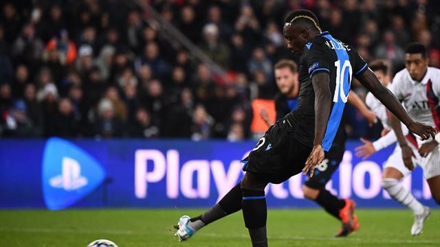 Diagne sanctionné par Bruges après son penalty manqué face au PSG