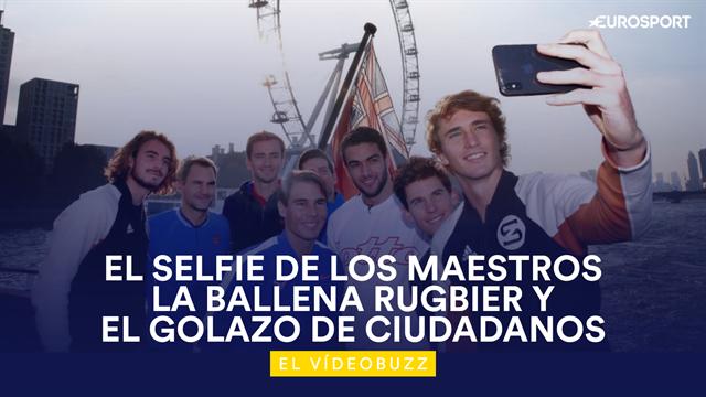 El vídeobuzz: El selfie con más clase del tenis, los maestros antes de la batalla