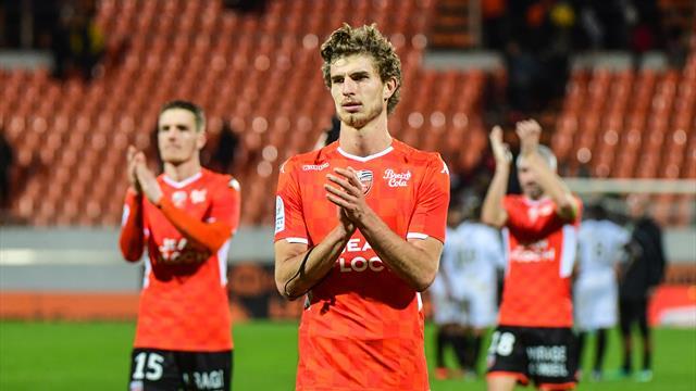 Lorient bat Caen sur le fil et repasse en tête