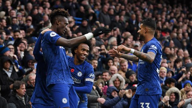 Il Chelsea vince 2-0 contro il Crystal Palace e vola al secondo posto: decidono Abraham e Pulisic