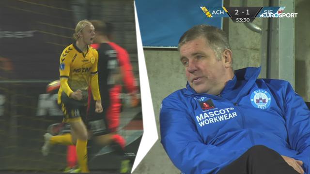 Highlights: Peter Therkildsens første Superliga-scoring afgjorde chancespækket bundopgør