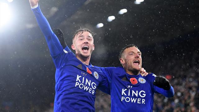 Il Leicester vola con Vardy e Maddison: è 2° posto, battuto anche l'Arsenal 2-0
