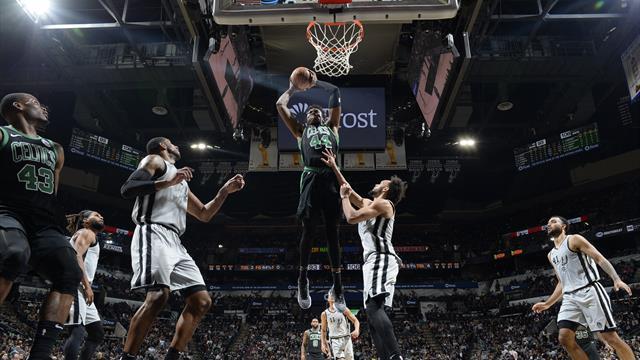 Les Celtics enchaînent mais perdent Hayward, Golden State chute encore