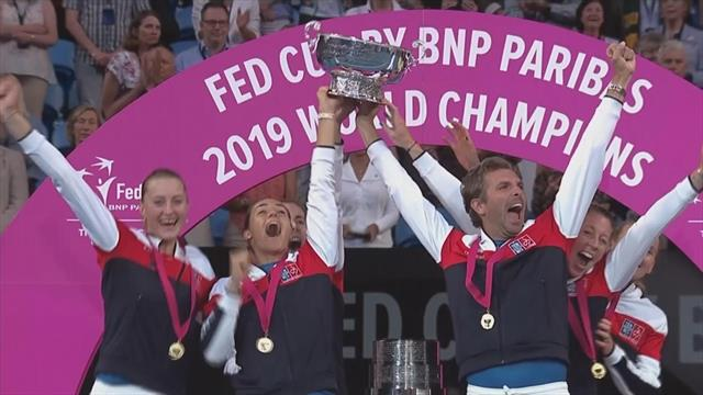 WATCH - France win Fed Cup for third time