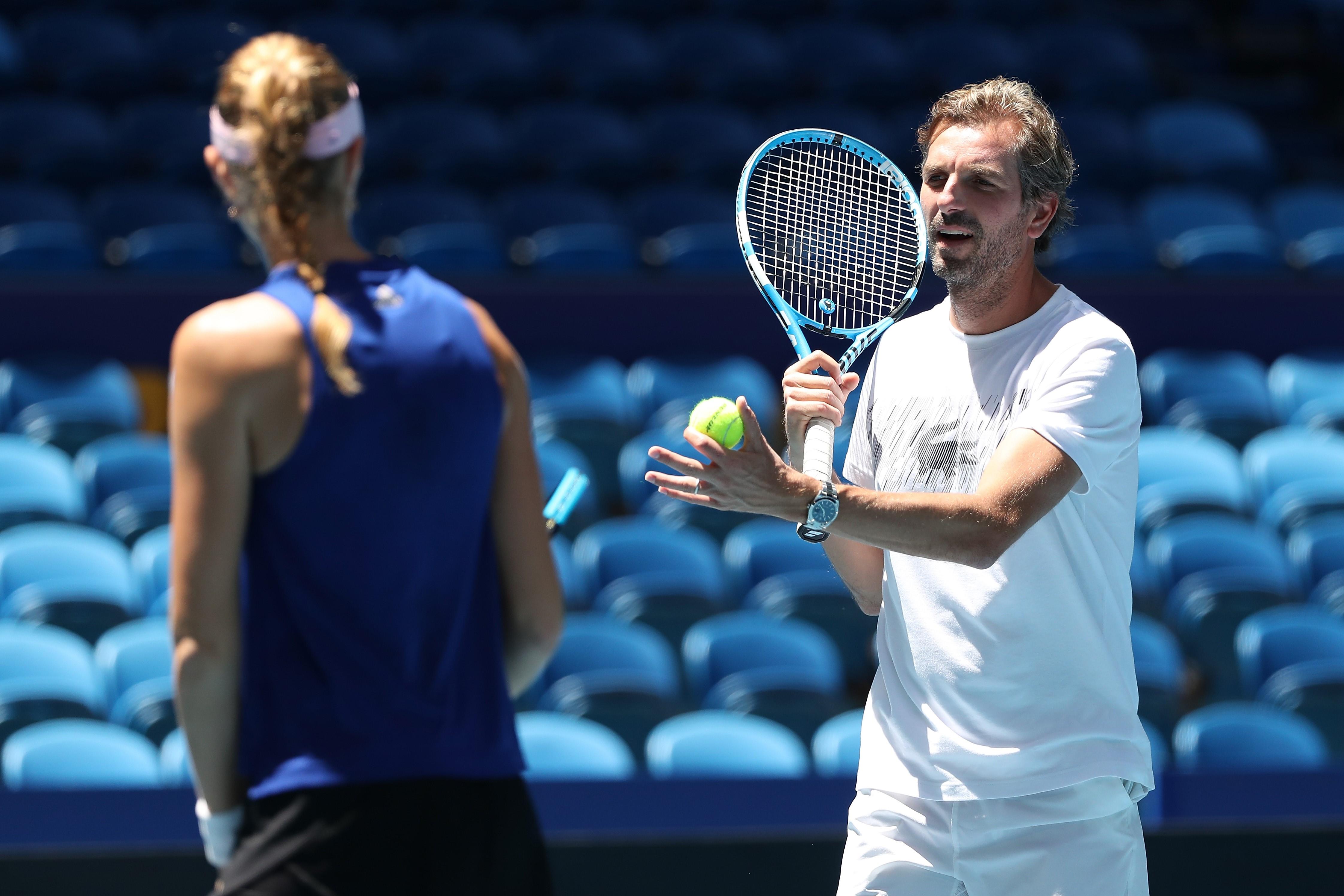 Julien Benneteau et Kristina Mladenovic avant la finale de la Fed Cup 2019 à Perth