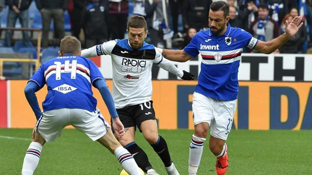 Le pagelle di Sampdoria-Atalanta 0-0: Quagliarella anonimo, Gomez non incide