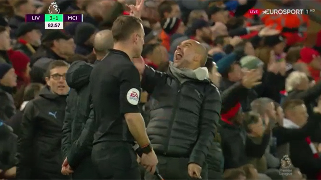 Liverpool - City   Guardiola, nervos