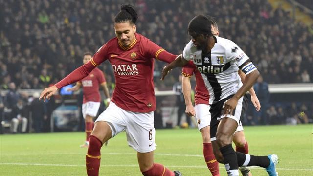 Le pagelle di Parma-Roma 2-0: bene Kulusevski e Kucka, male Fazio e Dzeko