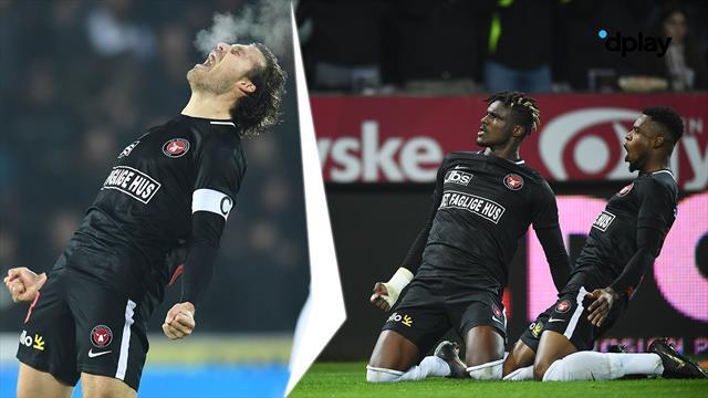 Highlights: FC Midtjylland totalt dominerer FC København og bringer sig afgørende foran i toppen