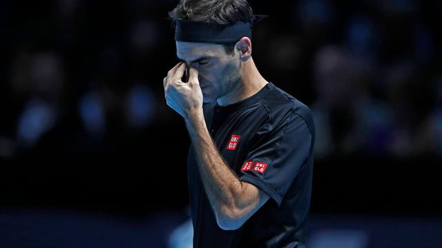 Federer beaten by brilliant Thiem on first night of ATP Finals