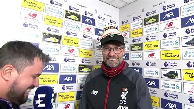 Eurosport Romania give Jurgen Klopp a traditional 'clop' hat!