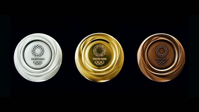 Design moderne et clinquant : voici les médailles des JO de Tokyo