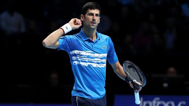 Un échange rondement mené et Djokovic a pu toiser la foule