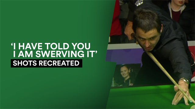 Shots Recreated: Can Ronnie O'Sullivan re-create his swerve shot?
