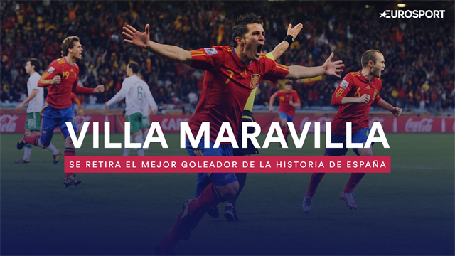David Villa, un delantero de otros tiempos con una vida ligada al gol