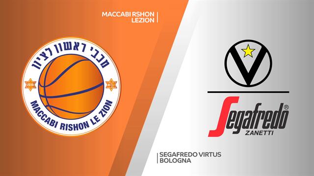 Highlights: Maccabi Rishon Lezion-Segafredo Virtus Bologna 79-85