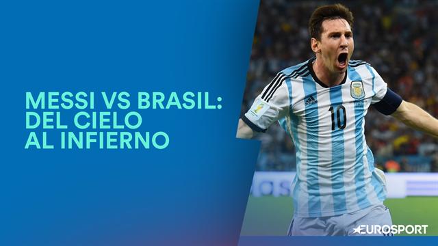 Messi vs Brasil: El 10 pasa del cielo al infierno ante el eterno rival
