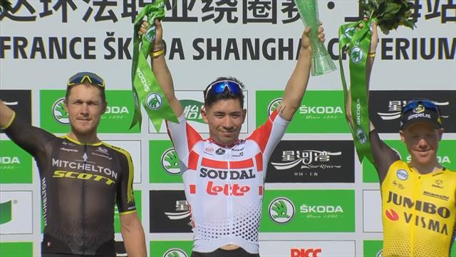 Ciclismo, Criterium de Shanghai: Caleb Ewan gana al sprint  y Bernal se deja ver en la cabeza