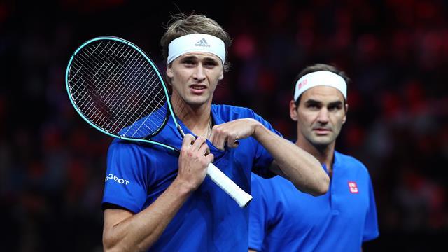 Federer ve Zverev, Şili'deki toplumsal krize rağmen korta çıktı
