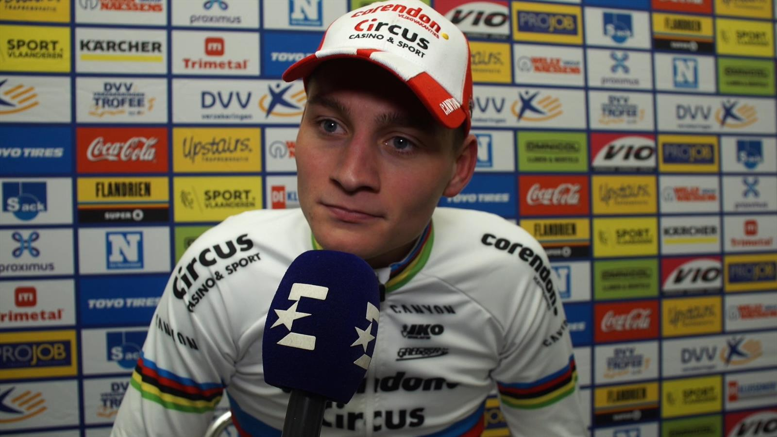 """DVV Trofee Hamme   Van Der Poel: """"Als ik niet had gereden was het nog moeilijker geweest"""" - Eurosport Nederland"""