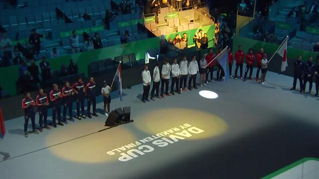 Copa Davis 2019: Así fue la presentación de España con un precioso juego de luces