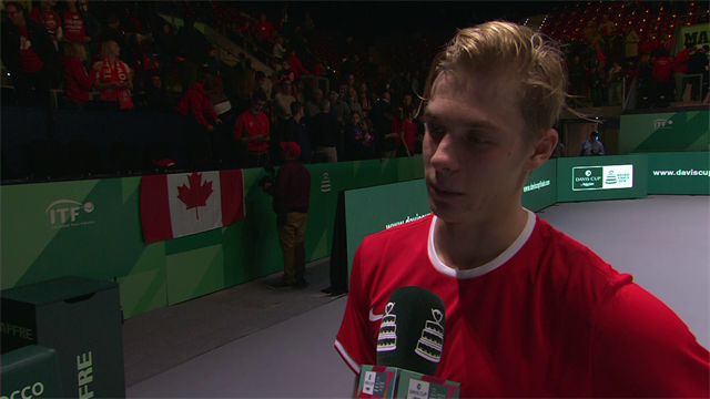 Vasek Pospisil stuns Fabio Fognini in Canada's Davis Cup opener against Italy