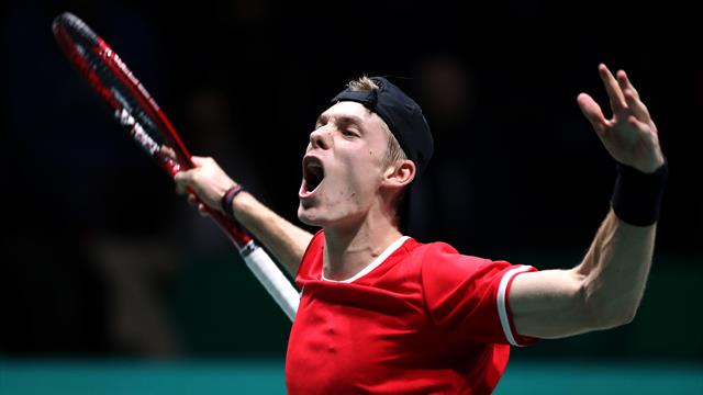 Shapovalov knocks off Berrettini in Davis Cup play