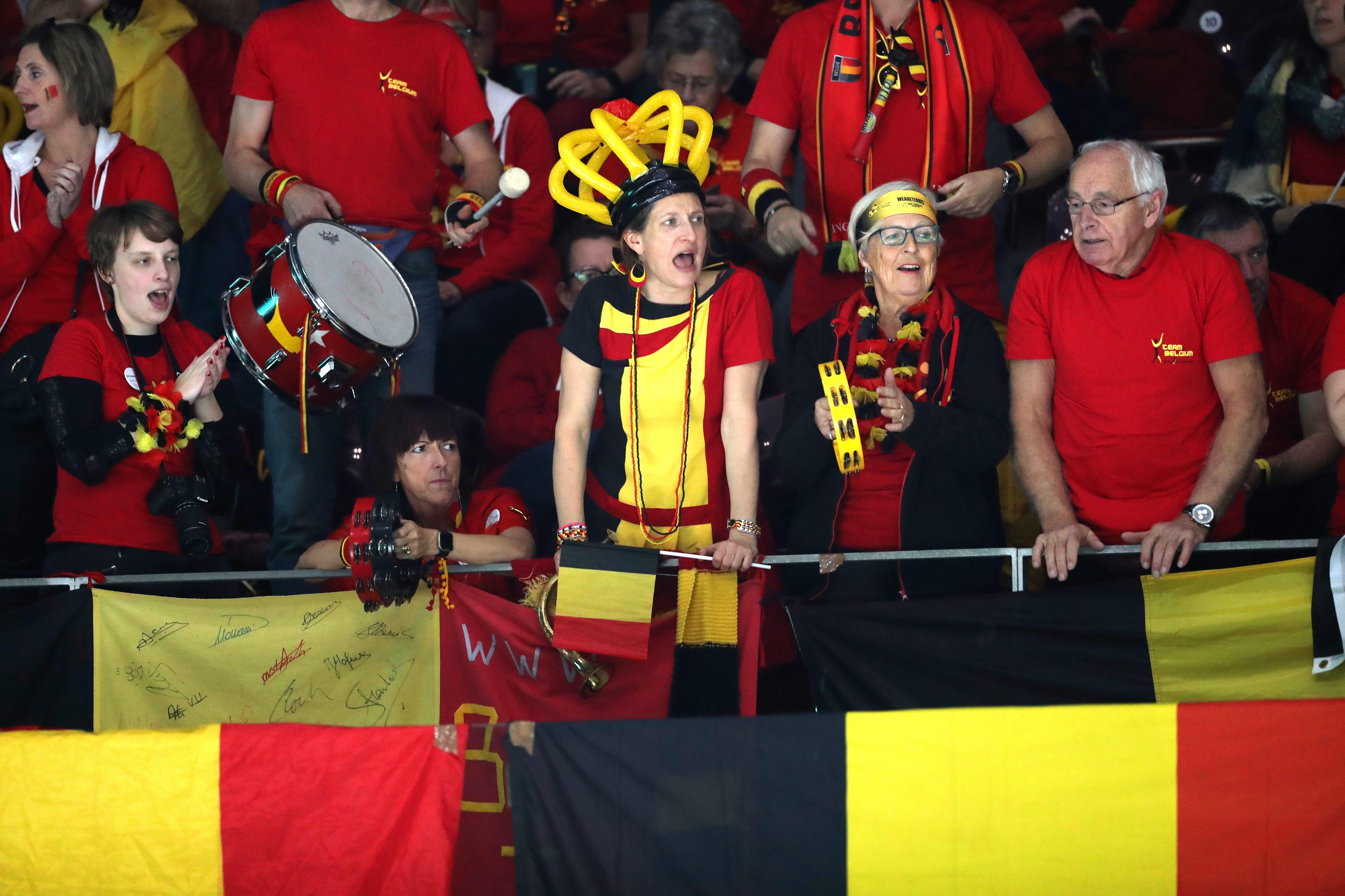 Fans belges lors de la Coupe Davis 2019