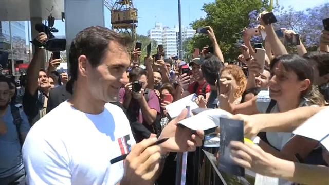"""Federer, ídolo de masas en Argentina: """"Estoy feliz de seguir jugando con 38 años"""""""
