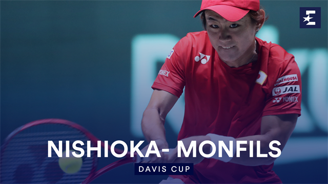 Highlights: Nishioka battles past France's Monfils for Japan
