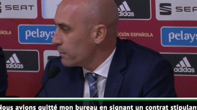 """FOOTBALL : International : Espagne - Luis Rubiales : """"La porte a toujours été ouverte pour un retour"""