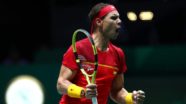 Highlights: Nadal og Spanien tager sejren til Davis Cup - Se vejen til finalen her