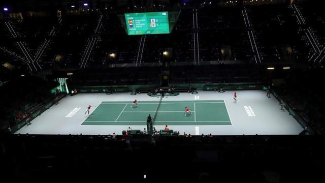 La Caja Mágica de la Copa Davis, calentada con infrarrojos