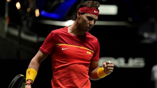 Les matchs de vendredi et samedi avancés de trente minutes — Coupe Davis