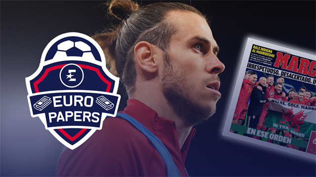 Euro Papers: Jose offers Bale a Spurs 'escape route' as flag fury grows